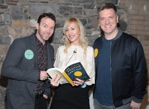 Fiona with Dermot and Dave at the Book Launch 6th March 2019